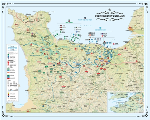 Normandy Campaign Map Folded